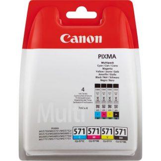 INK CANON CLI-571CMYK MULTIPACK NERO + COLORI PER PIXMA MG 7700