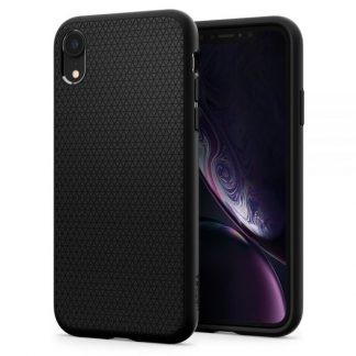CUSTODIA IPHONE XR LIQUID BLACK MAT IPHONE XR MATTE BLACK