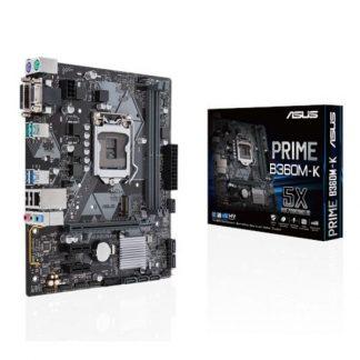 MB ASUS PRIME B360M-K S1151 2D4 6S3 M.2 GBL 6U3.1 VGA/DVI OPTANE